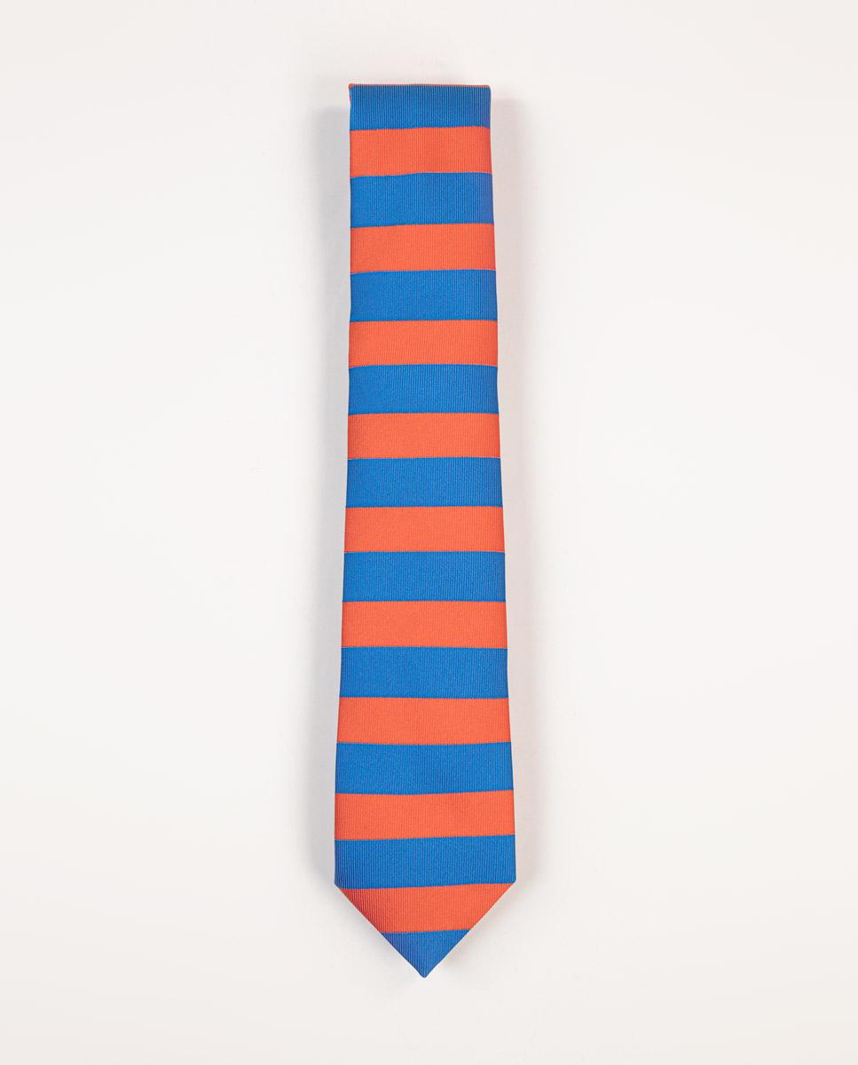 Corbata Rayas Horizontales Azul/Naranja