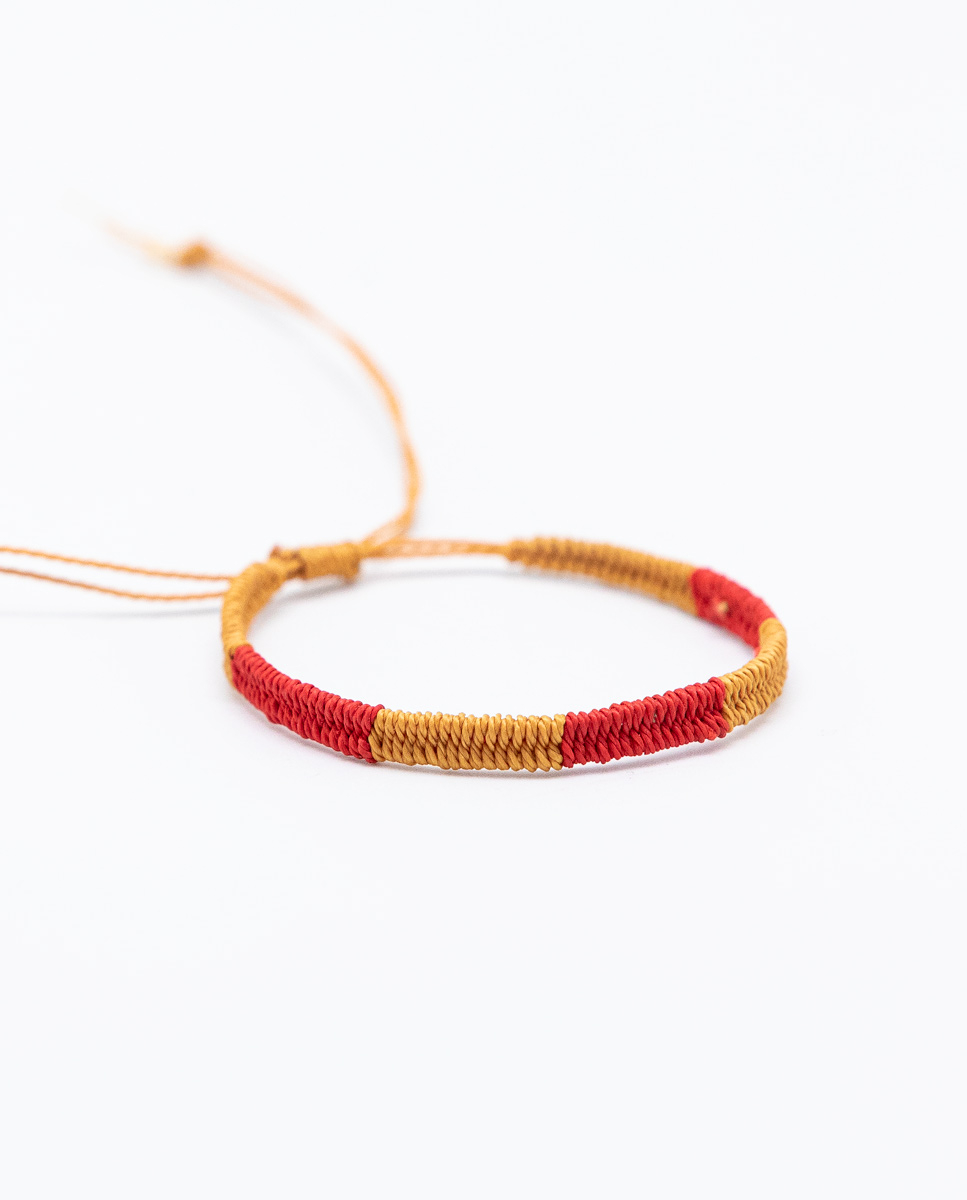 Pulsera Bicolor Amarillo/Rojo