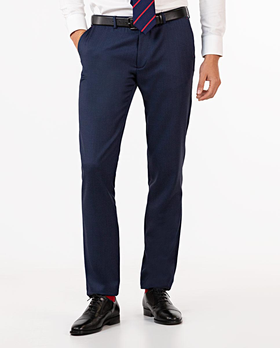Navy Birdseye Trousers