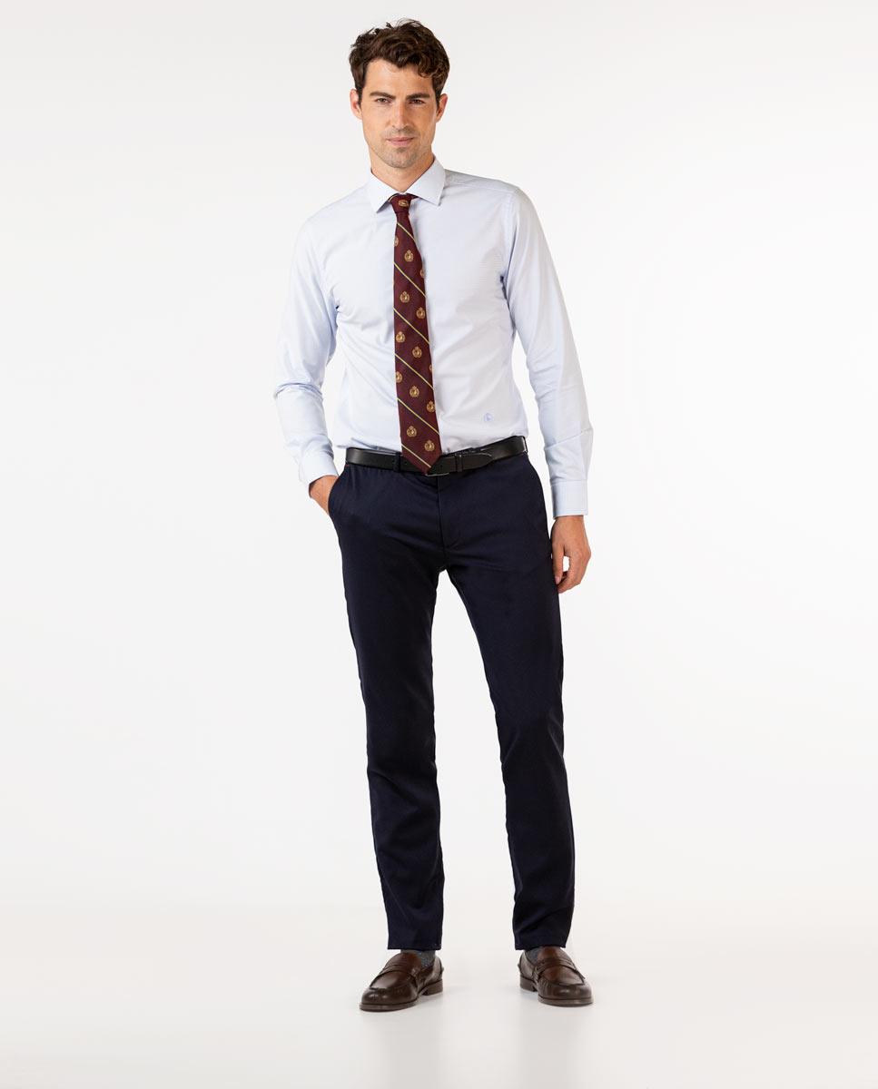 Plain Navy Trousers