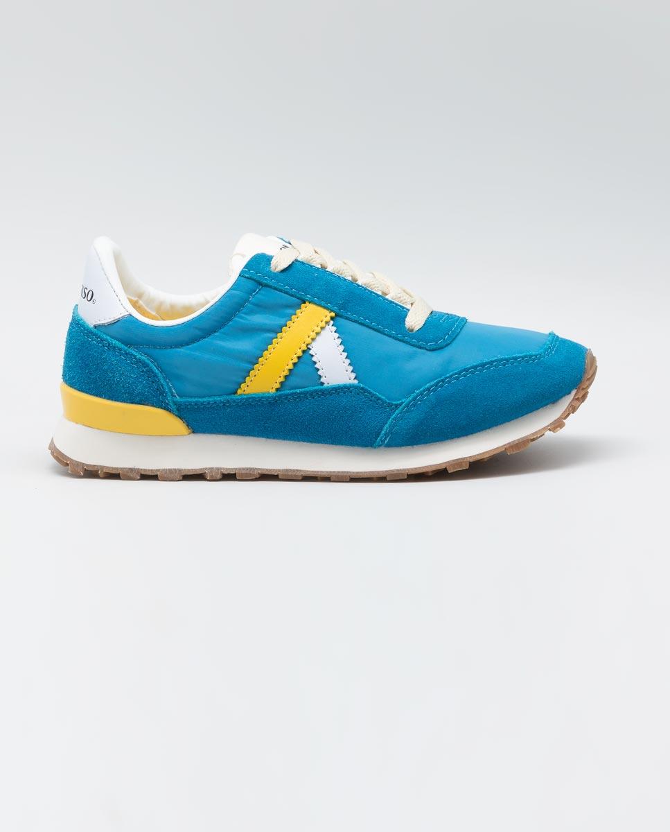 Track nylon bleu