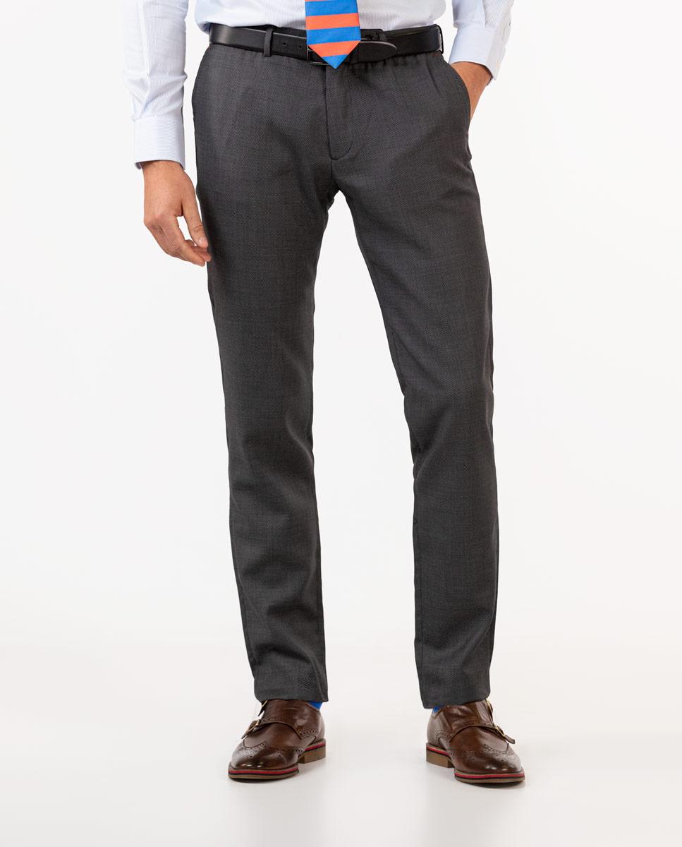 Dark Grey Birdseye Trousers
