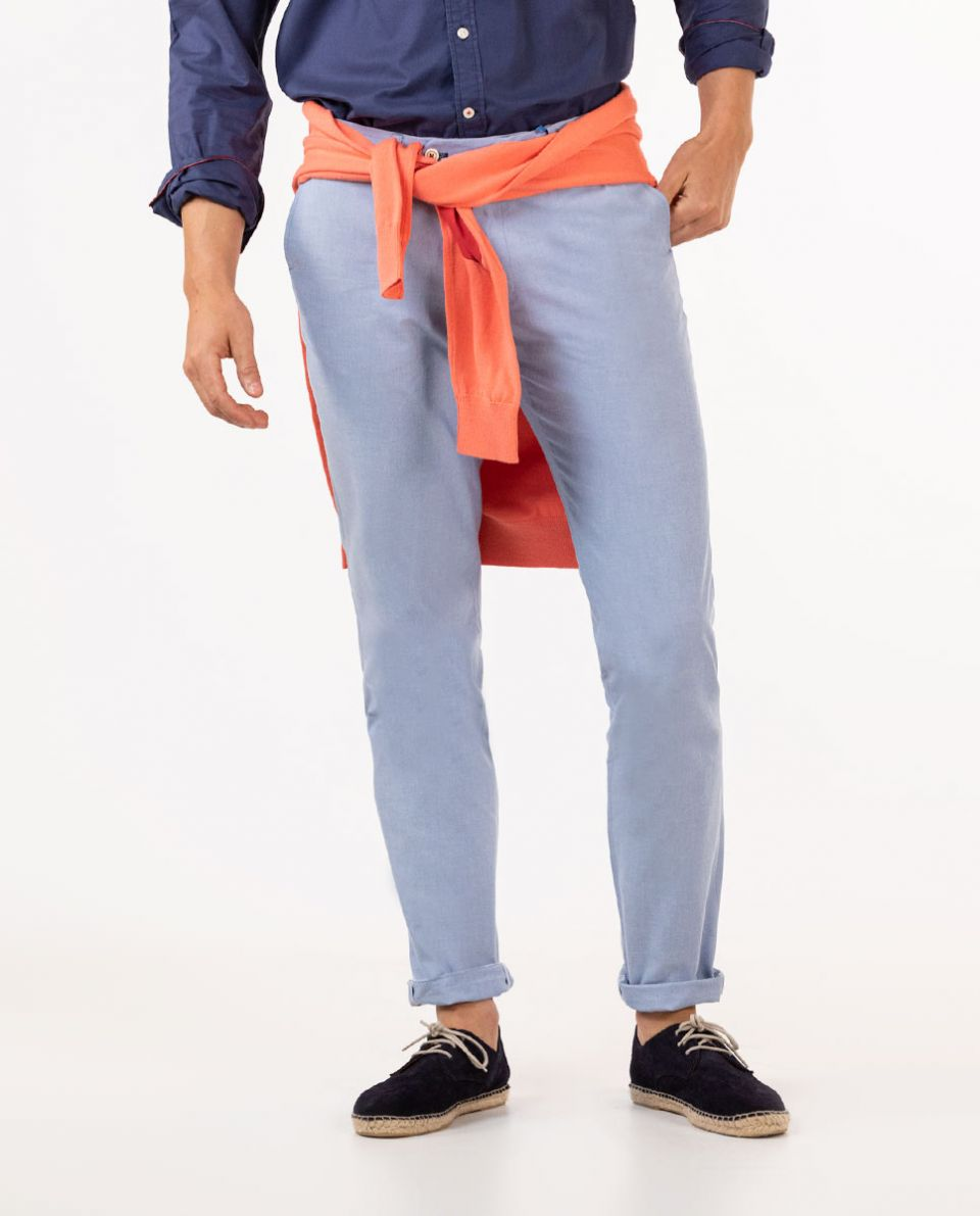 Sky Blue Oxford Trouser Separate