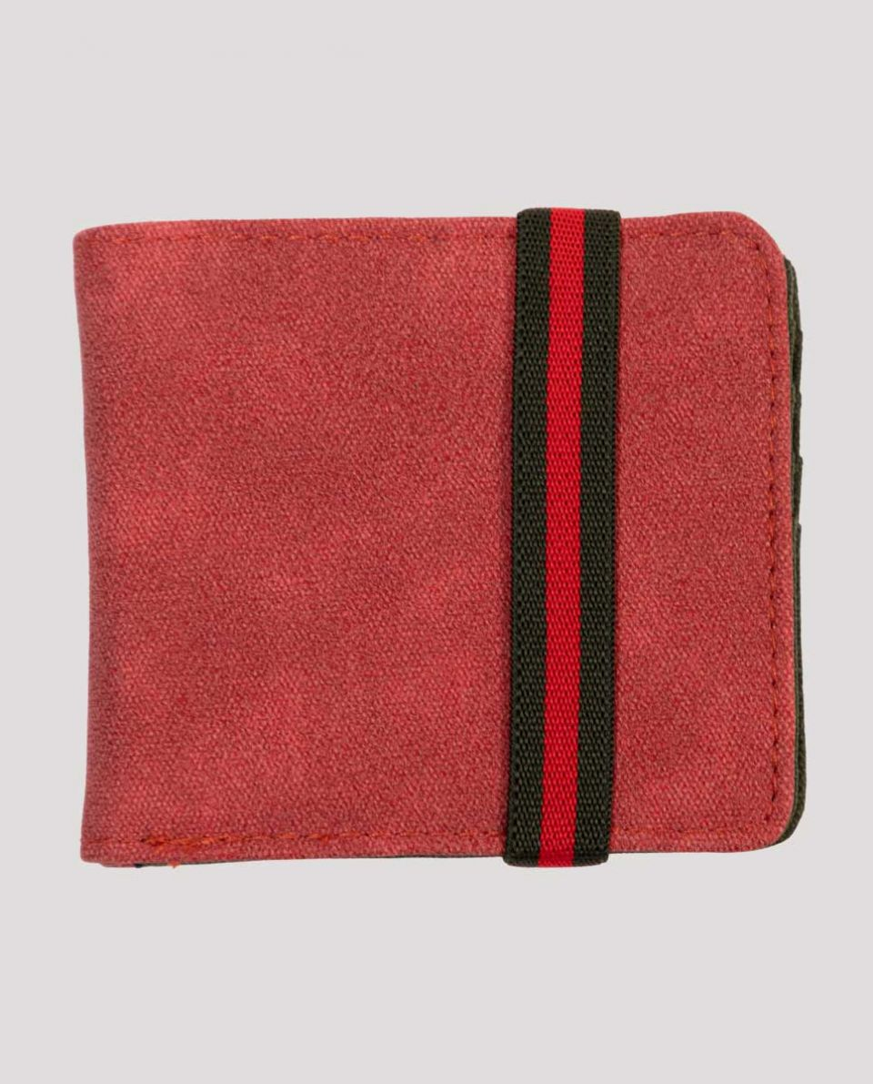 Red Washed Canvas Wallet