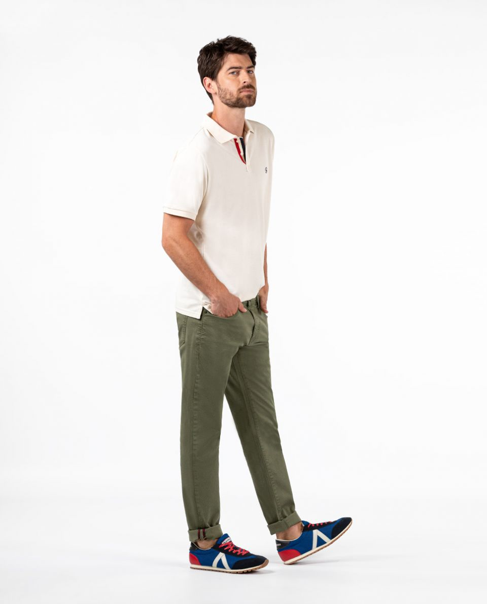 Green 5-Pocket Trousers