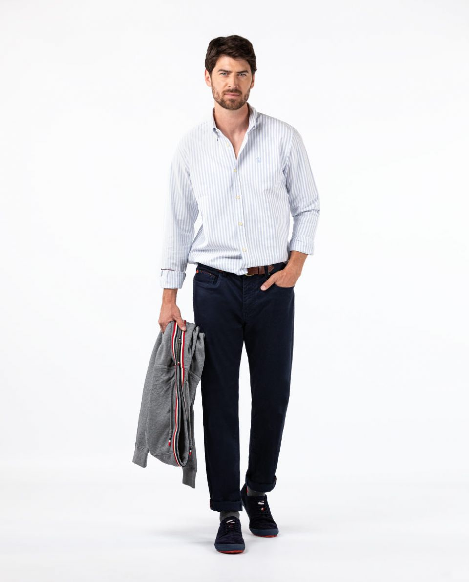 Navy 5-Pocket Trousers
