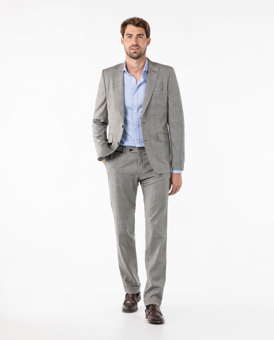 Grey Prince of Wales Trouser Suit Separate