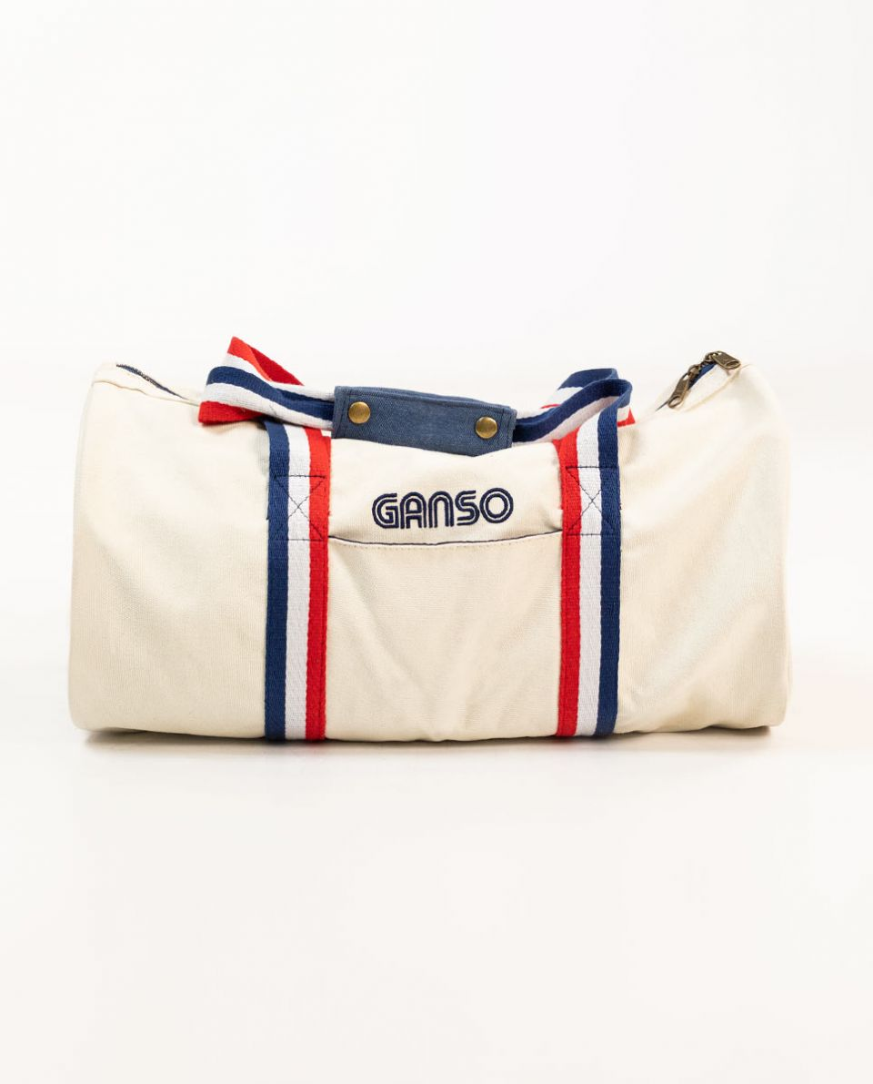 White Washed Canvas Duffel Bag