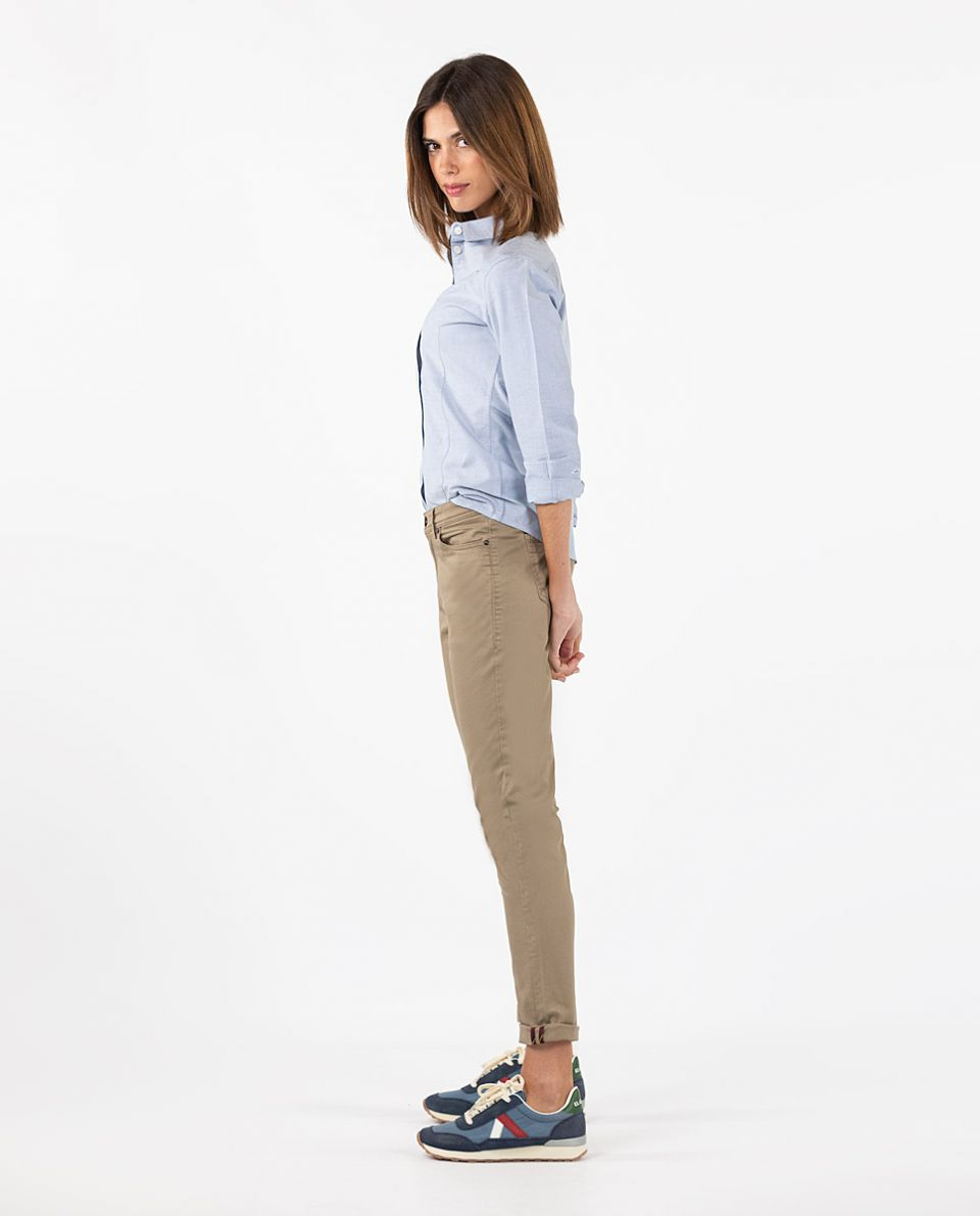 Brown 5-Pocket Trousers