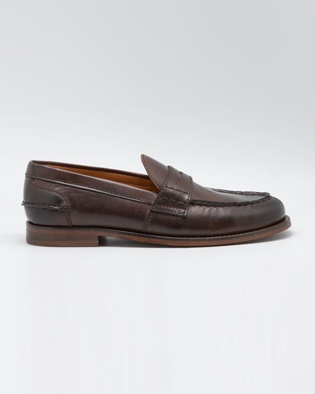 Leather Moccasin Penny Loafers