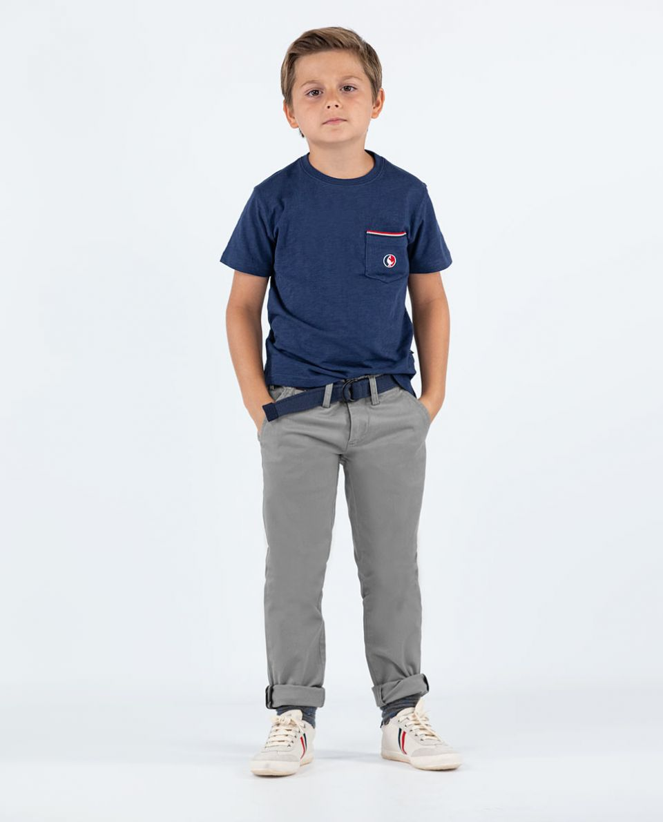 Grey 5-Pocket Trousers