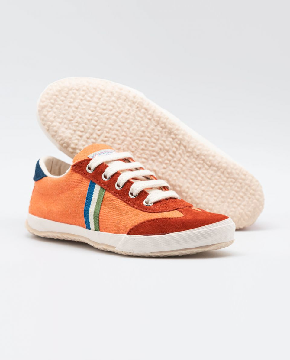 Orange Washed Canvas Match Sneakers
