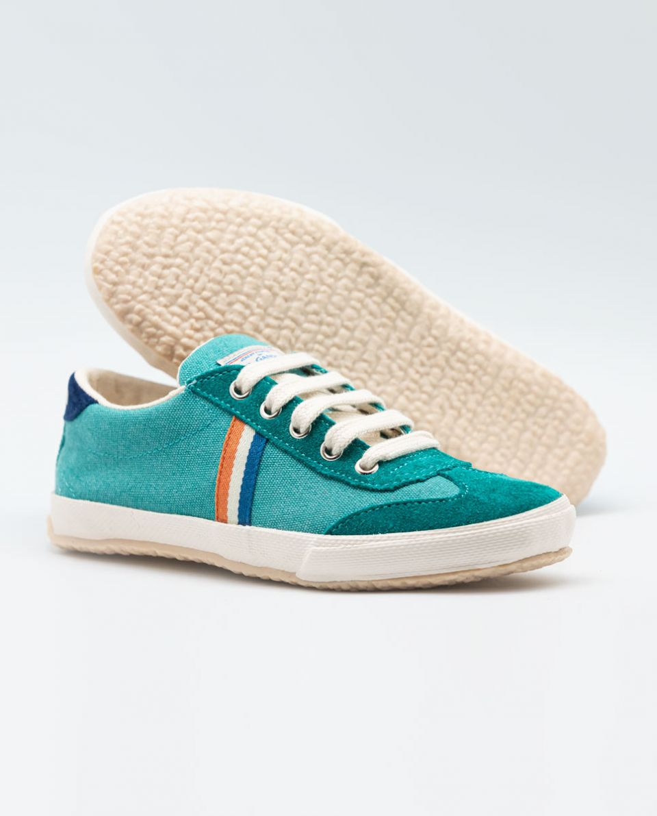Petrol Washed Canvas Match Sneakers