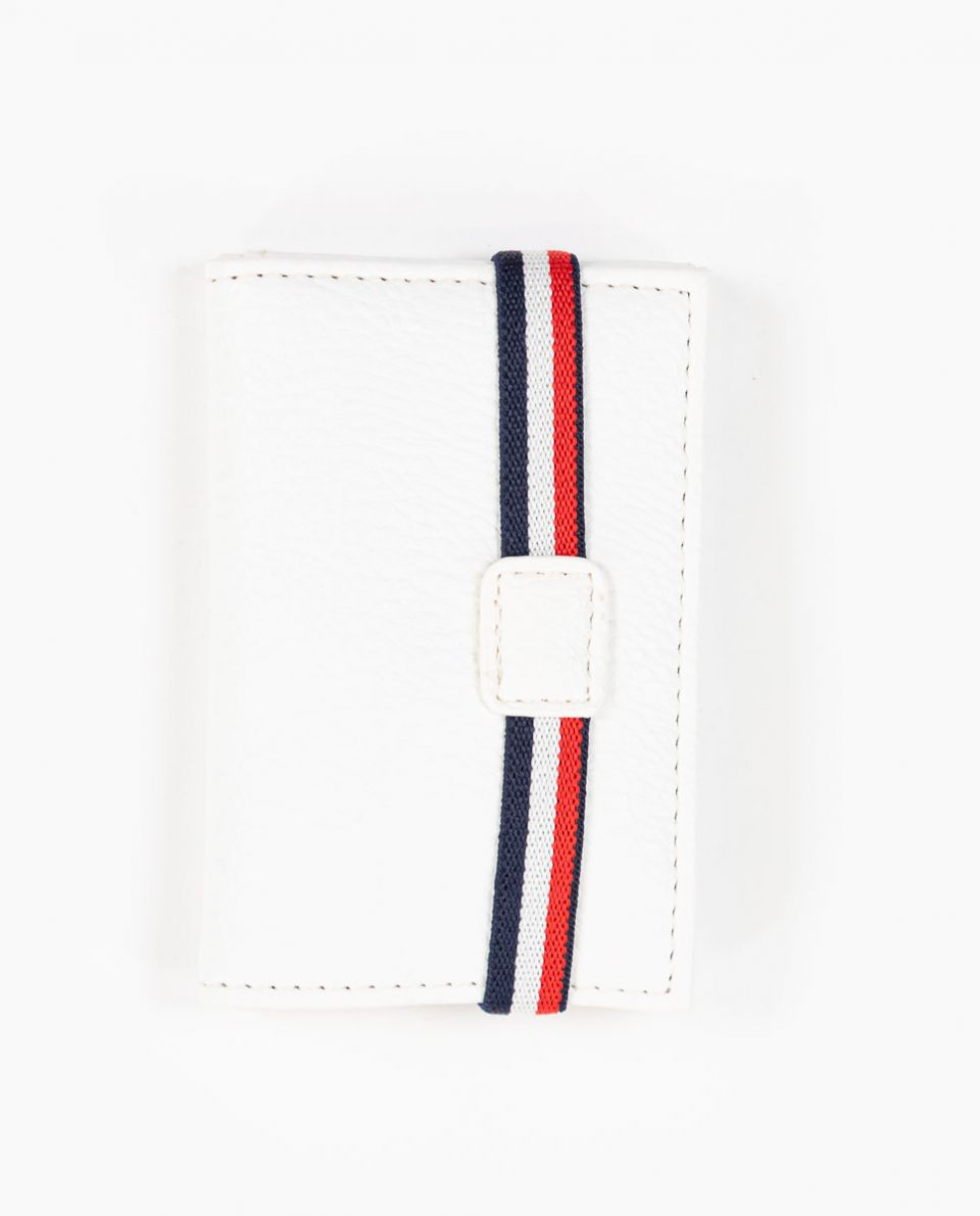 Off White PU Leather Wallet