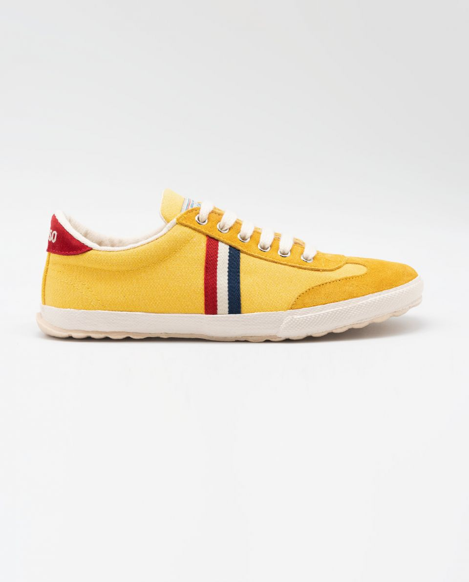 Yellow Washed Canvas Match Sneakers