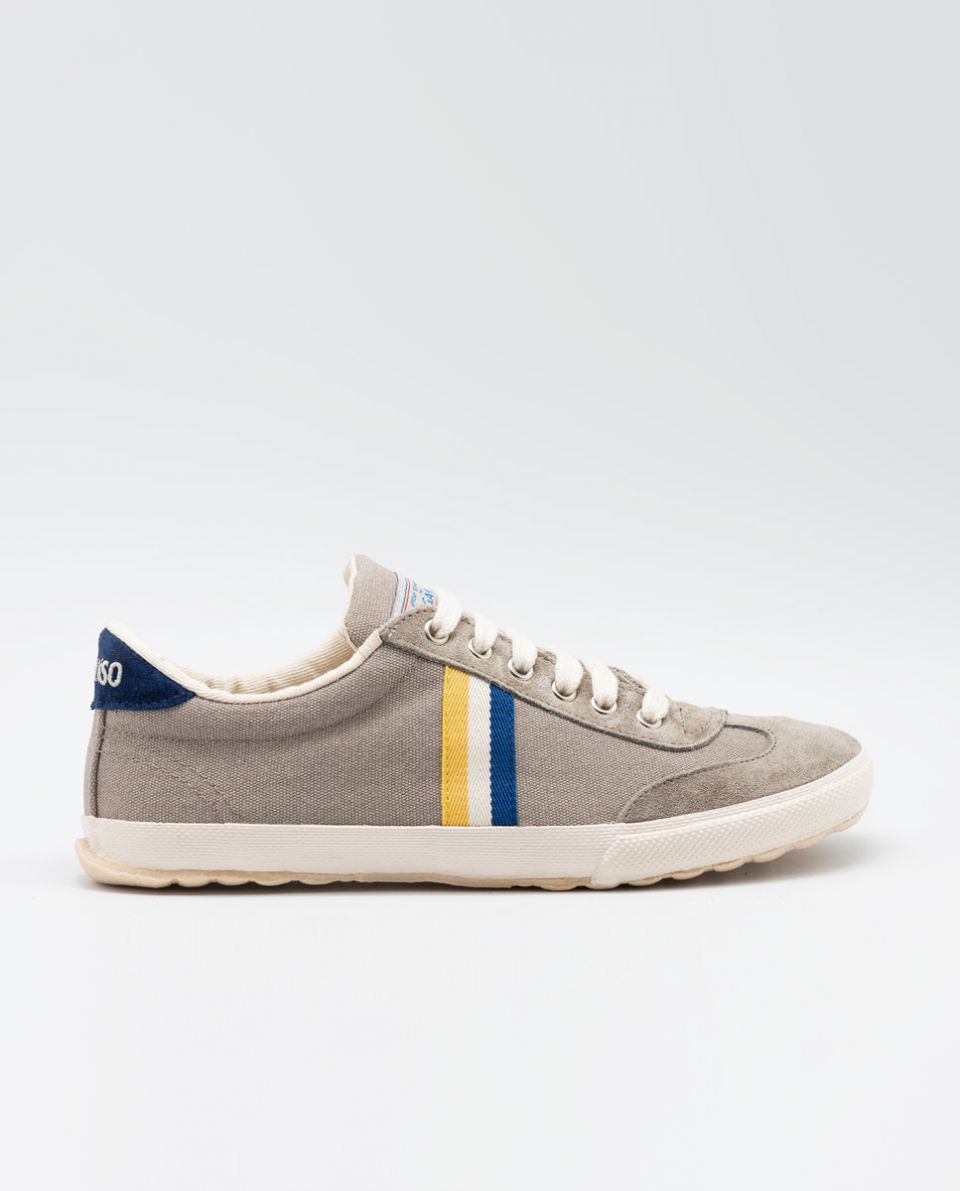 Grey Washed Canvas Match Sneakers