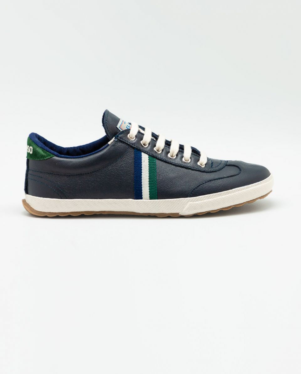 Navy Leather Match Sneaker