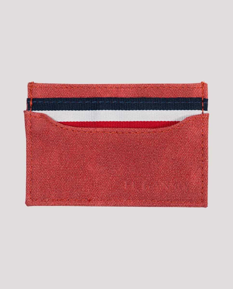 Tarjetero Pequeño Canvas Washed Rojo Image 1