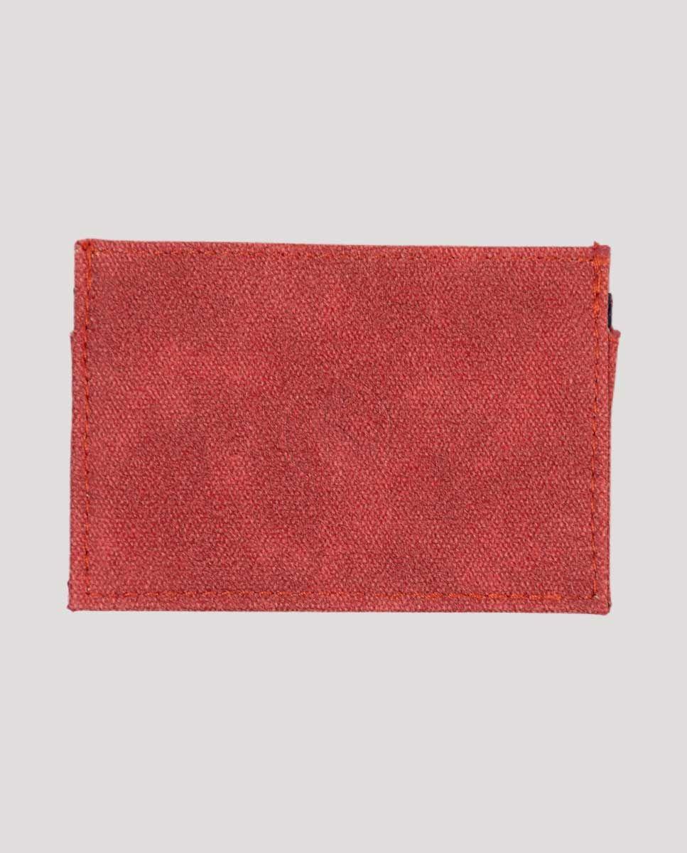 Tarjetero Pequeño Canvas Washed Rojo Image 2