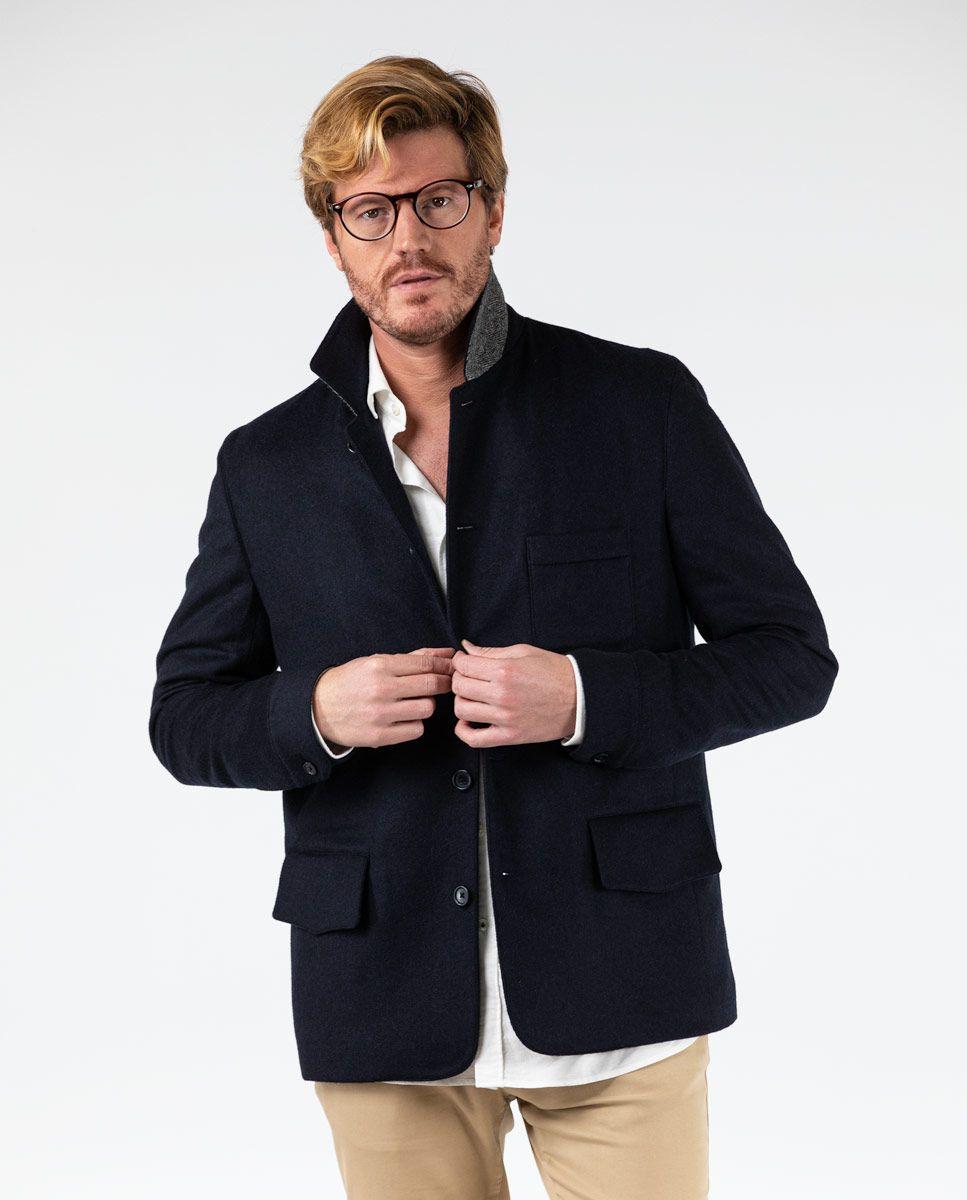 Blazer bleu marine quatre poches Work wear Image 2