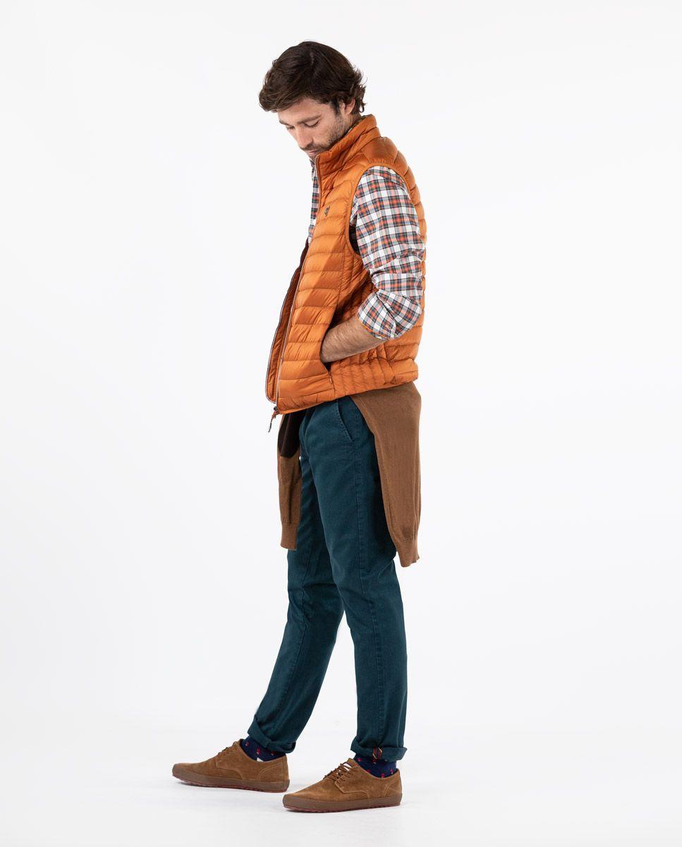 Chaleco Plumas Naranja Image 3