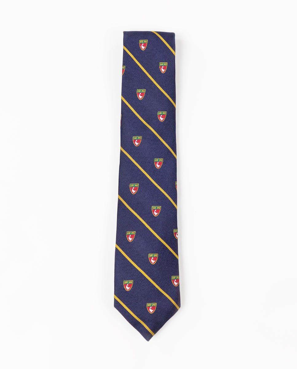 Cravate Écusson Rayure Jaune Image 1