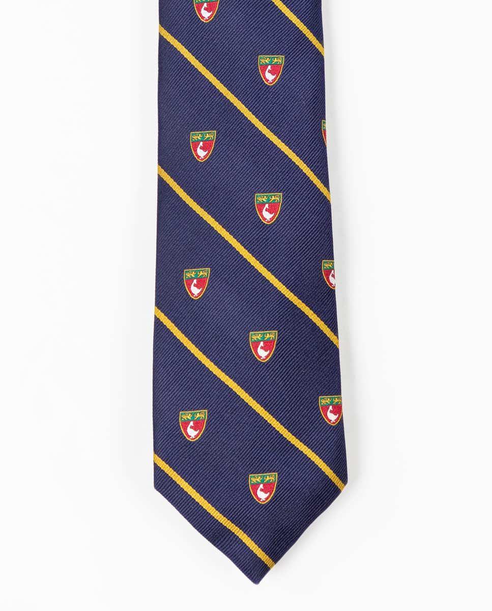 Cravate Écusson Rayure Jaune Image 2