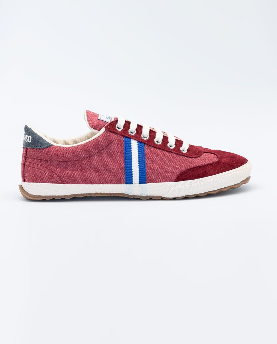 Washed Maroon Canvas Classic Match Sneaker Image 1
