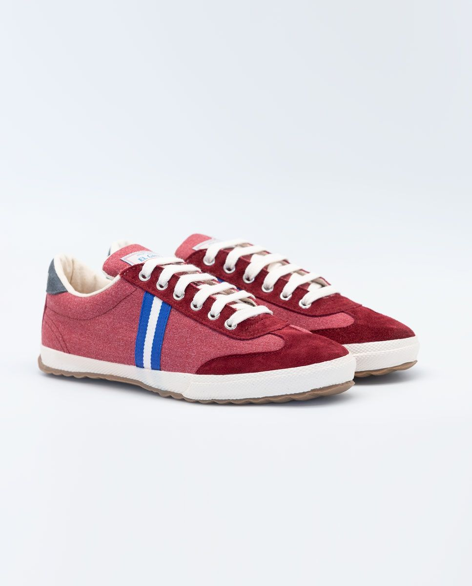 Washed Maroon Canvas Classic Match Sneaker Image 3