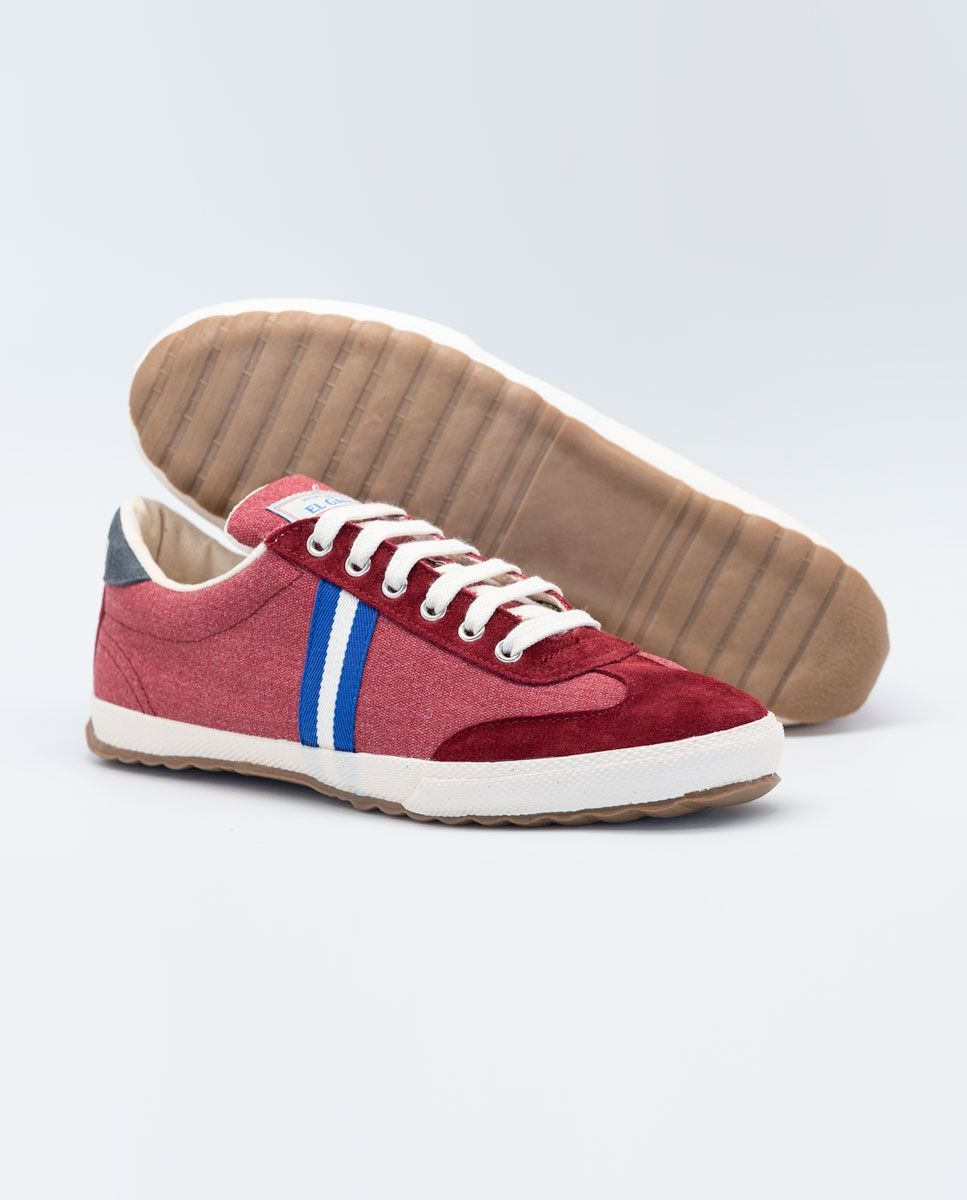 Washed Maroon Canvas Classic Match Sneaker Image 2
