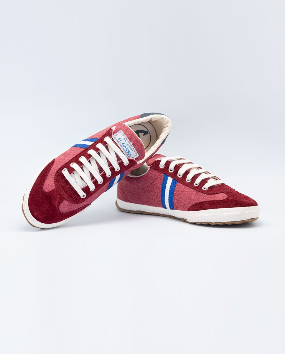Washed Maroon Canvas Classic Match Sneaker Image 4