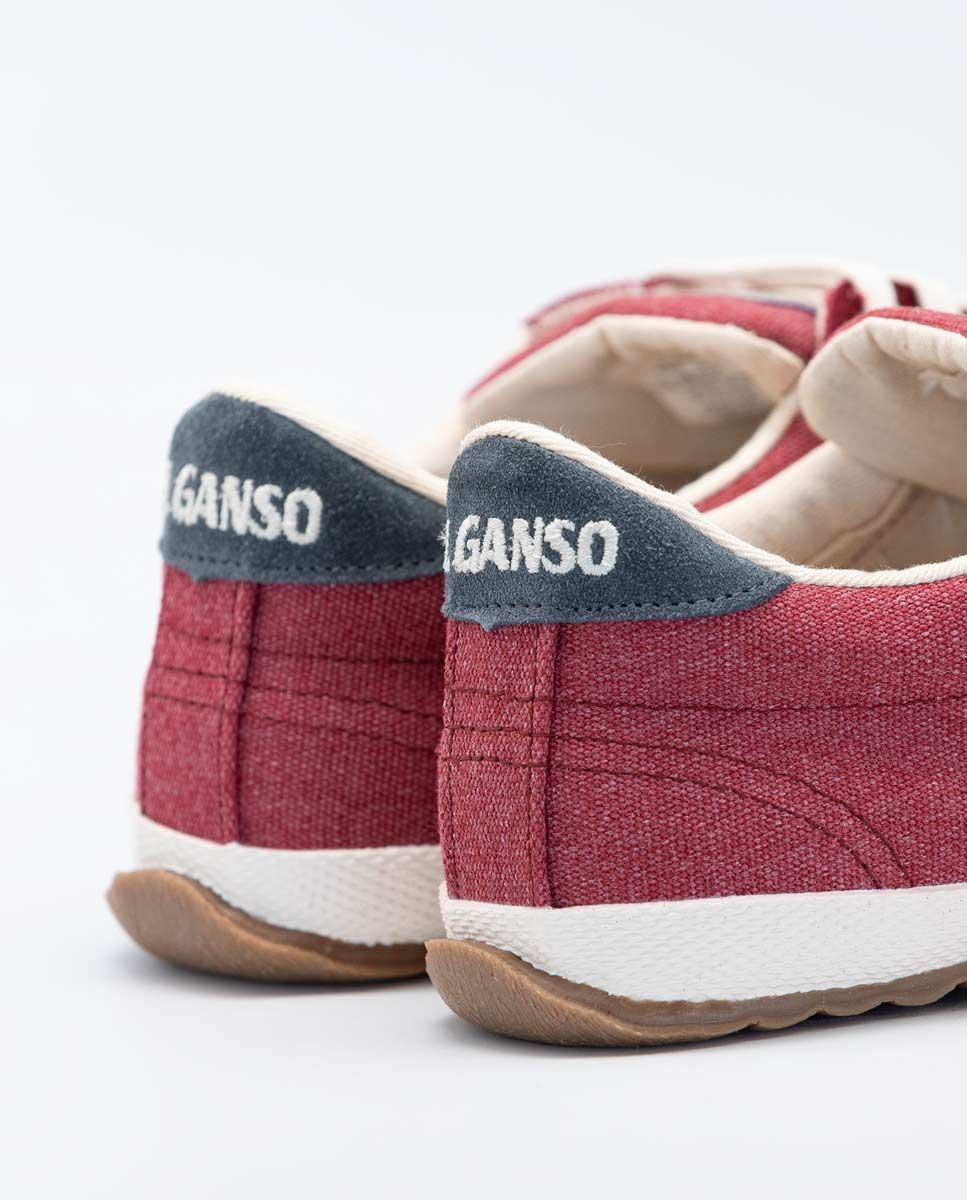 Washed Maroon Canvas Classic Match Sneaker Image 5