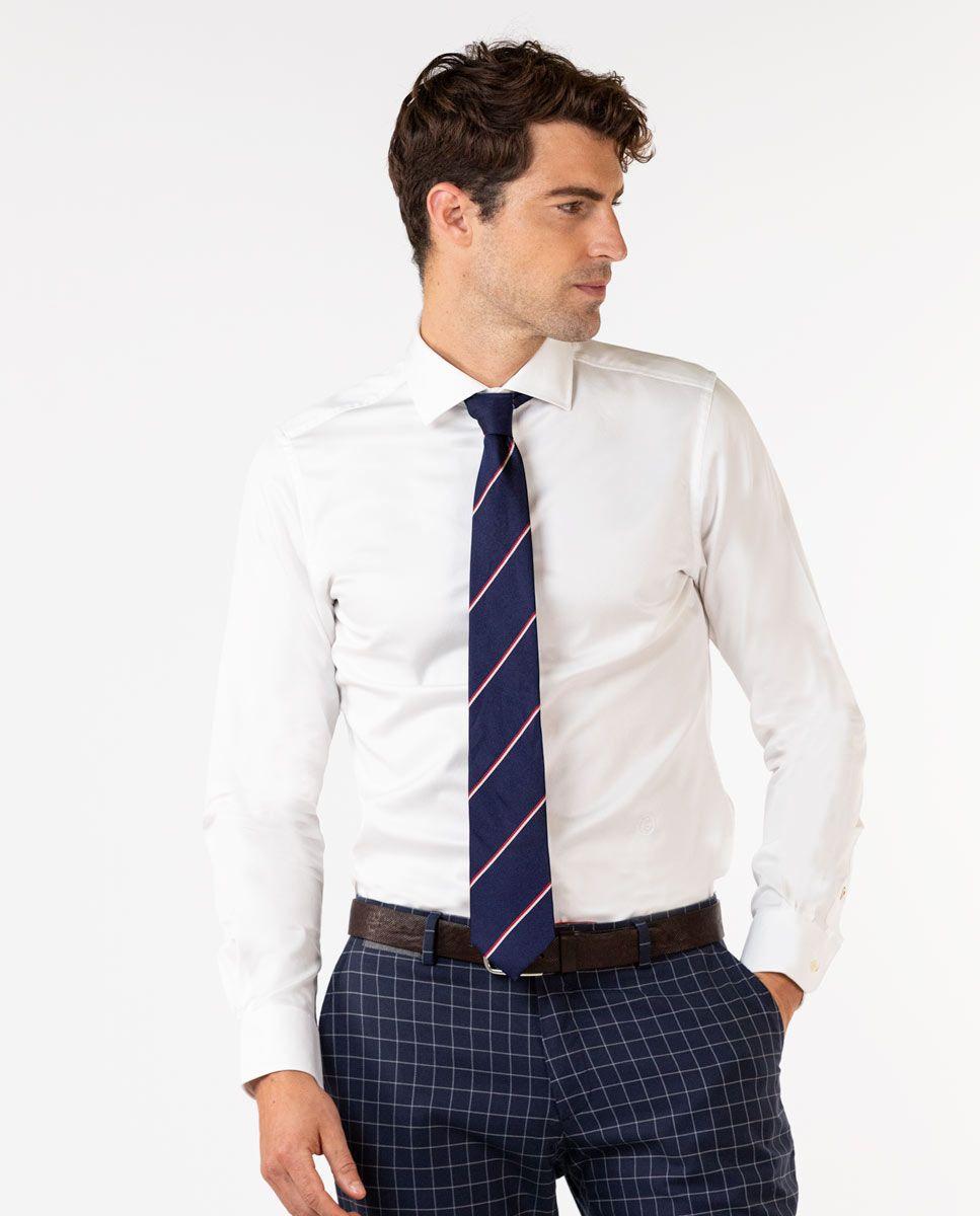 White Twill Dress Shirt Image 3