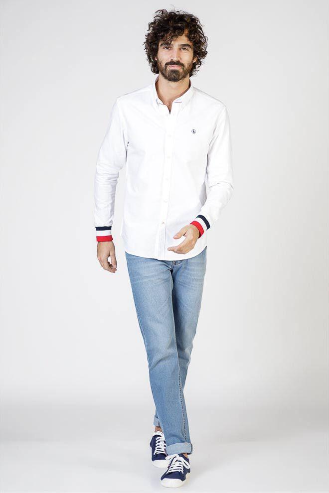 Plain White Oxford Shirt W  Cuffs Image 6
