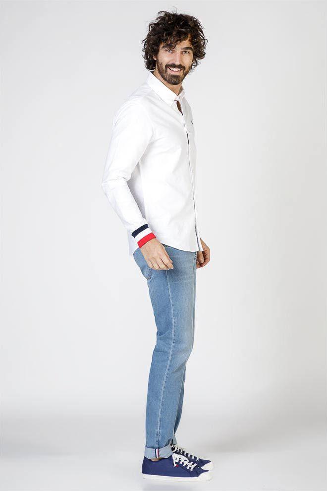 Plain White Oxford Shirt W  Cuffs Image 4