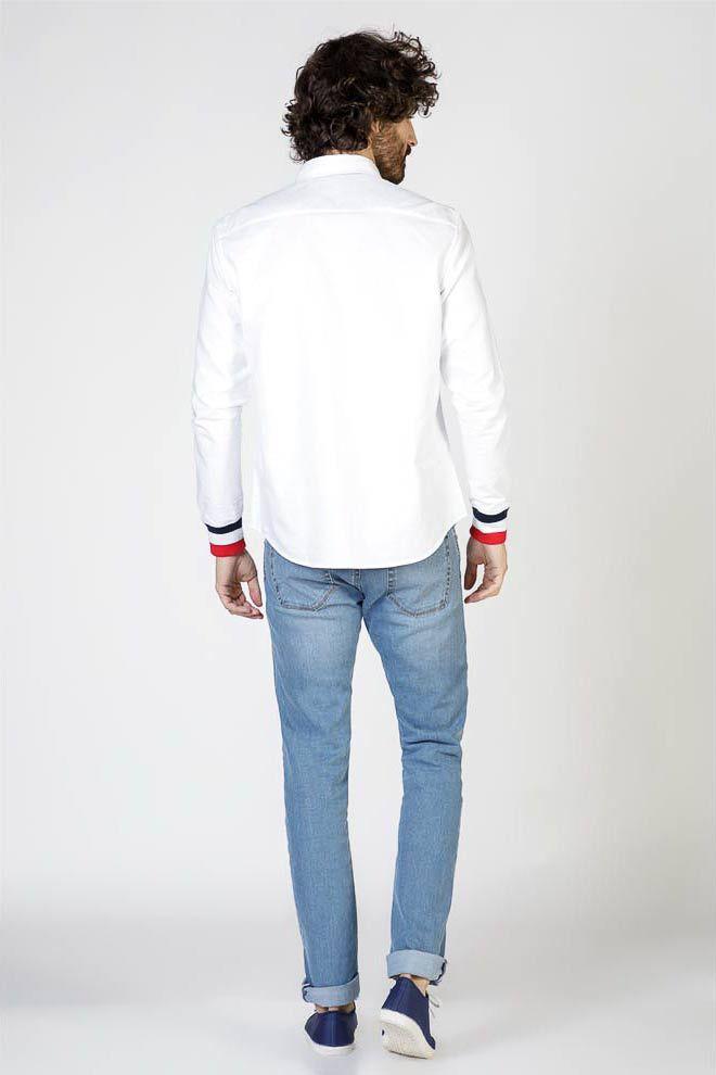 Plain White Oxford Shirt W  Cuffs Image 5