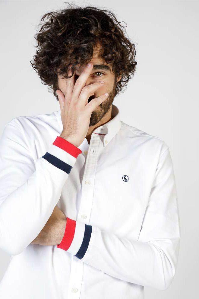 Plain White Oxford Shirt W  Cuffs Image 1