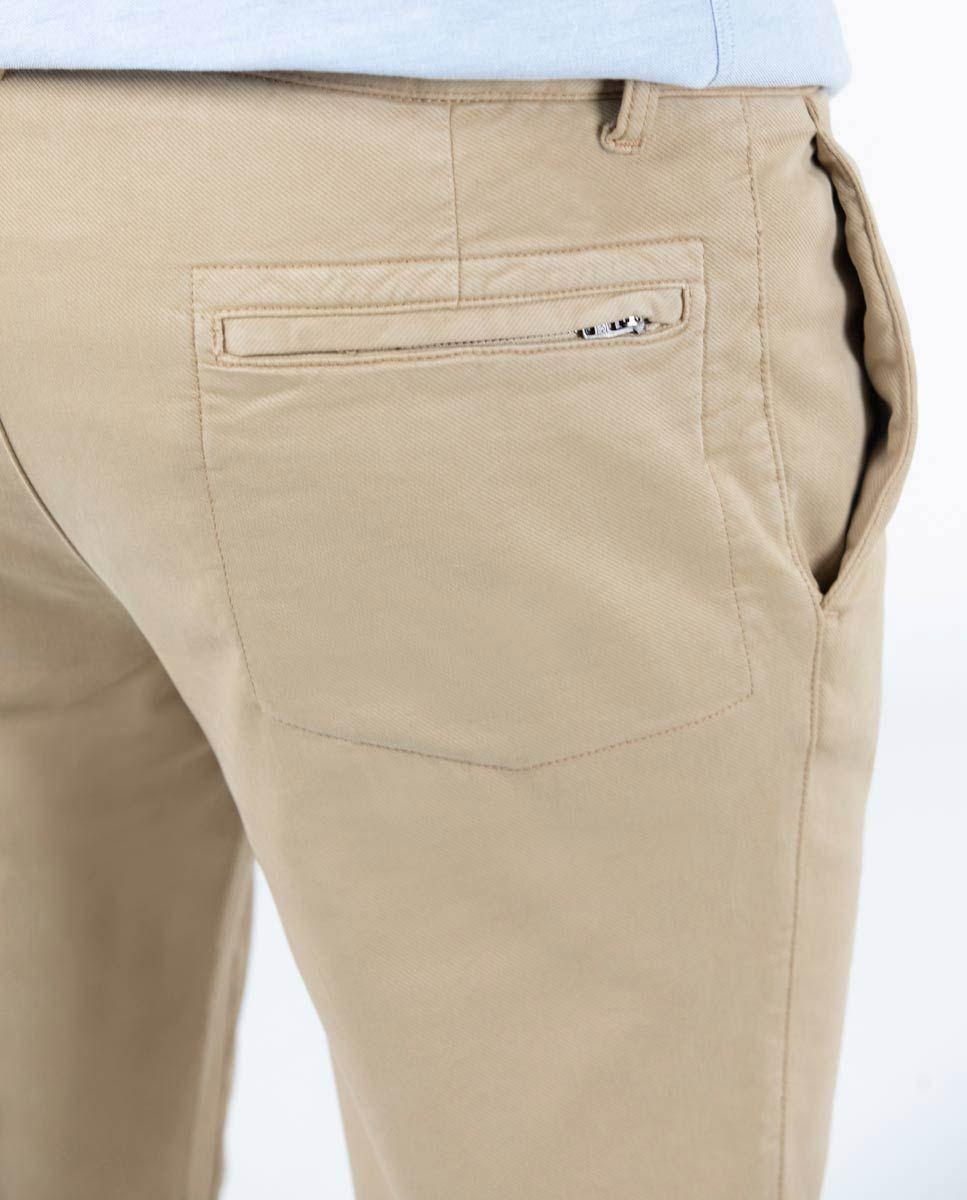 Camel plain Cotton Drawstring Pants  Image 5