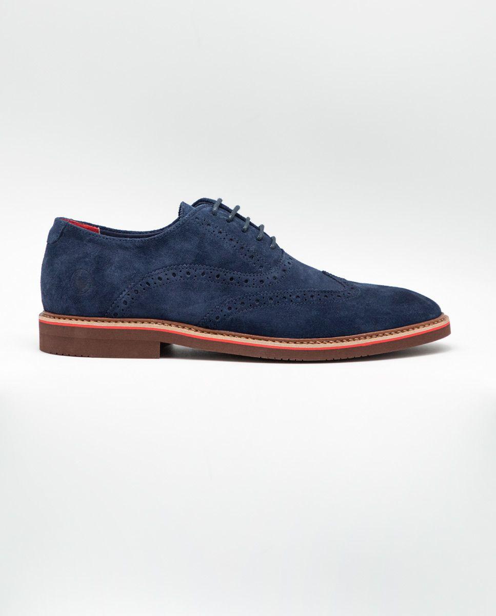 Zapato Oxford Ante Marino Image 1