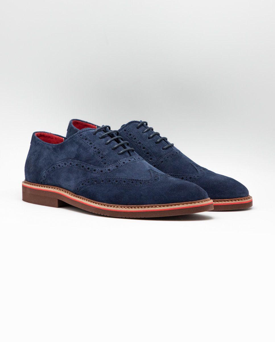 Zapato Oxford Ante Marino Image 2
