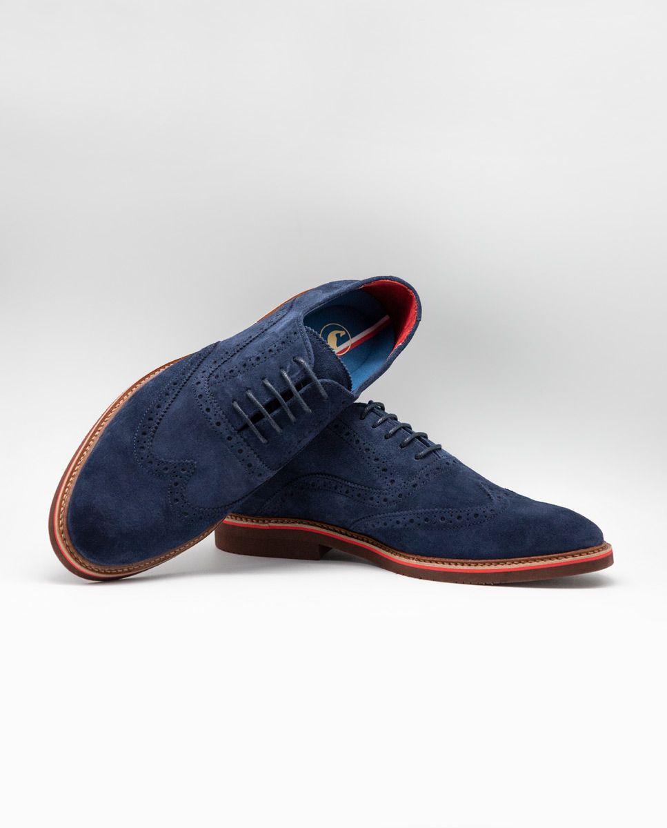 Zapato Oxford Ante Marino Image 3