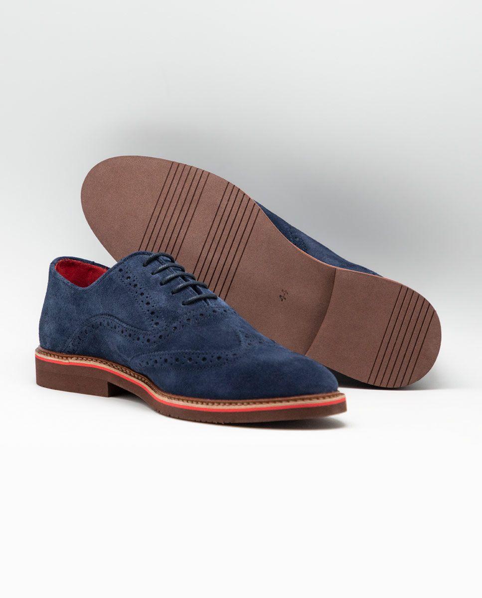 Zapato Oxford Ante Marino Image 4