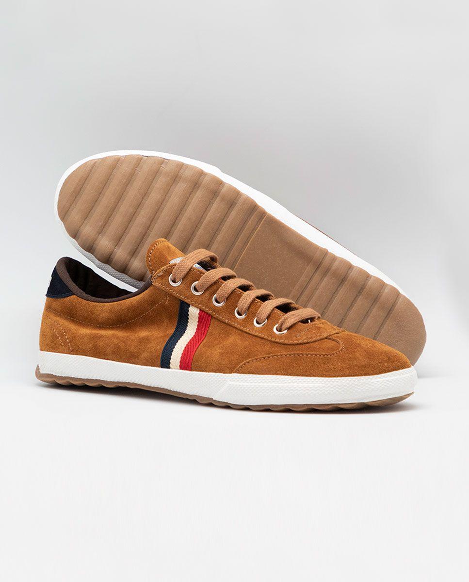 Camel Suede Gum-Sole Match Sneaker Image 4