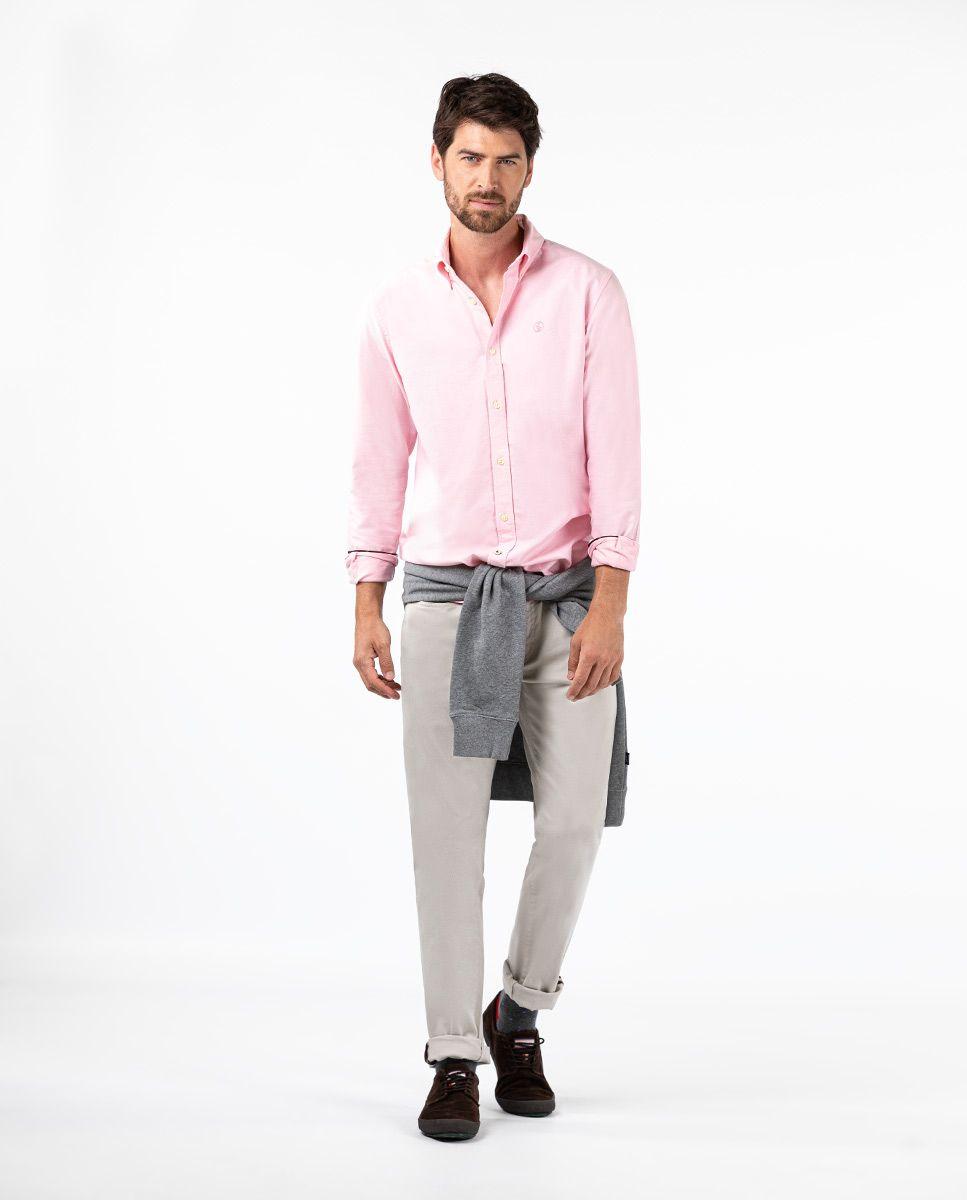 Camisa Oxford Rosa Image 2