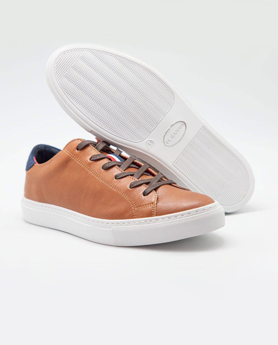 Sneaker Piel Cogñac Image 1