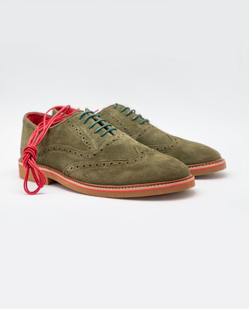 Zapato Oxford Ante Verde Image 3
