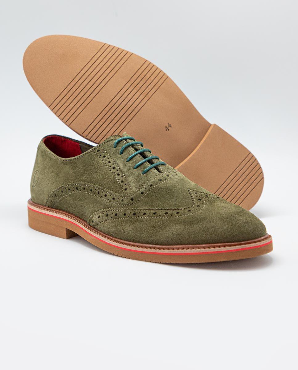 Zapato Oxford Ante Verde Image 2
