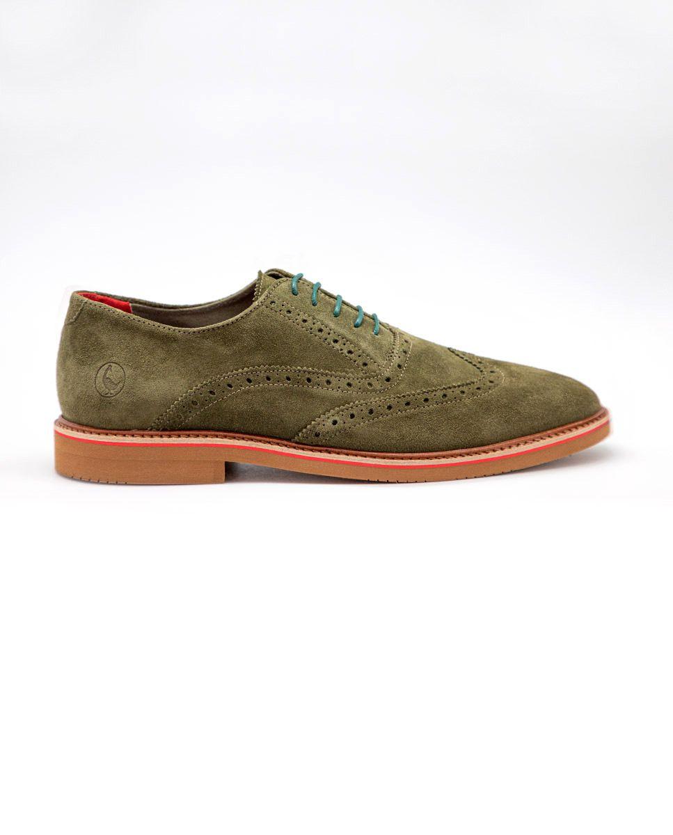 Zapato Oxford Ante Verde Image 1