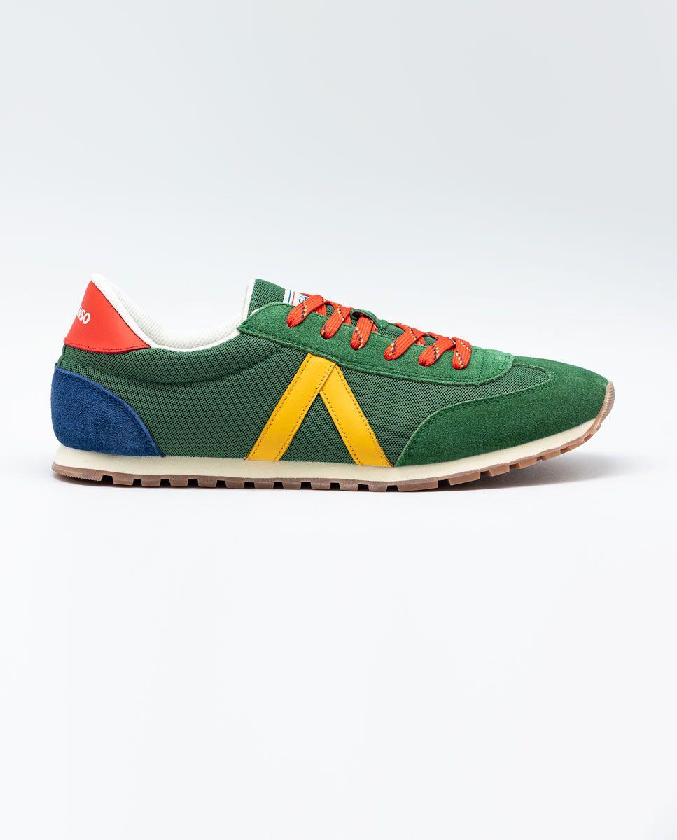 Green Nylon Running Sneakers W TrekkingMesh Image 1