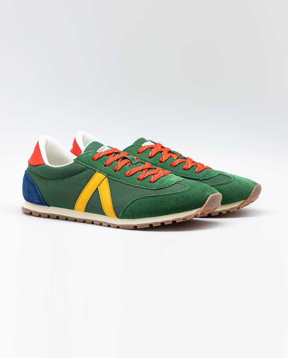 Green Nylon Running Sneakers W TrekkingMesh Image 2